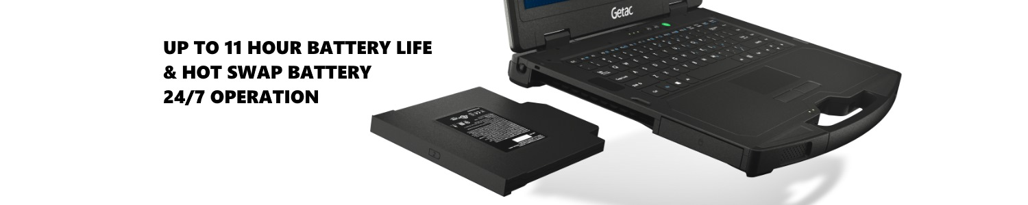 GETAC S410 Battery Life